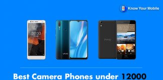 Best Camera Phones under 12000 in India