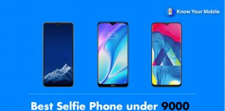 Best Selfie Phone under 9000 in India