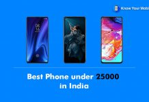 Best Phone under 25000 in India